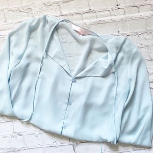 Victoria's Secret Blue Sheer Pajama Top
